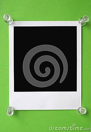 Polaroid en blanco