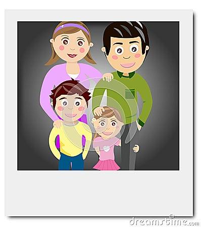 Polaroid family portrait