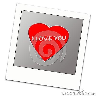 Polaroid frame with love