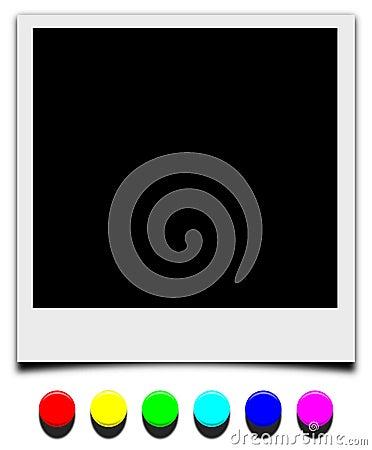 Polaroid frame with pushpin nail