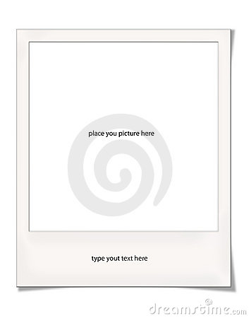 Polaroid frame with shadows