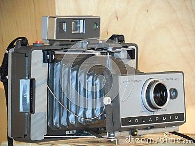 Polaroid Gray Folding Camera Free Public Domain Cc0 Image