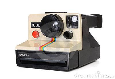 Polaroid instant camera Editorial Stock Photo