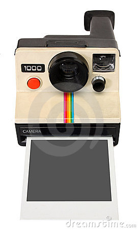 Polaroid instant camera Editorial Photography