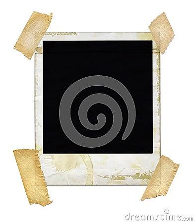 Polaroid invecchiato con nastro adesivo