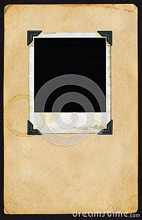 Polaroid na página