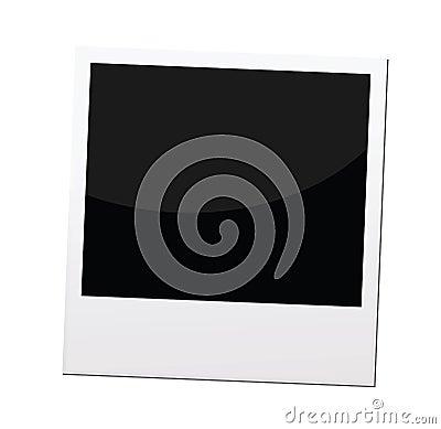 Polaroid photo frame or border,