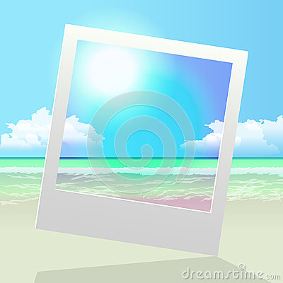 Polaroid summer photo frame