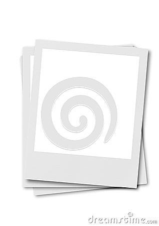 Polaroidfilm mit weißem Hintergrund