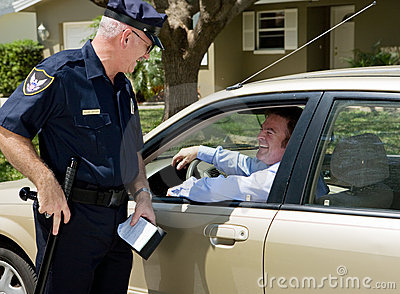 Polícia - batente amigável do tráfego