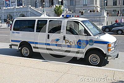 Polícia dos E.U. Captiol Fotografia Editorial