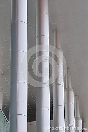Pole as line of modern building