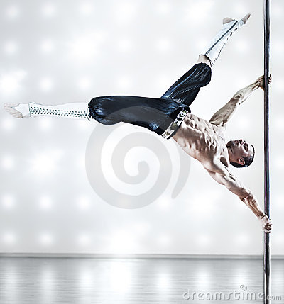 Pole dance man