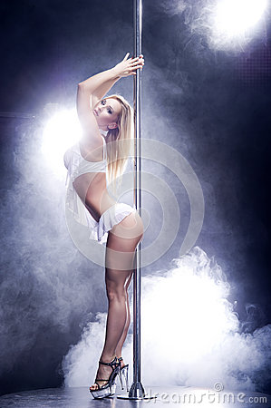 Free Pole Dance Woman. Stock Photos - 29221693