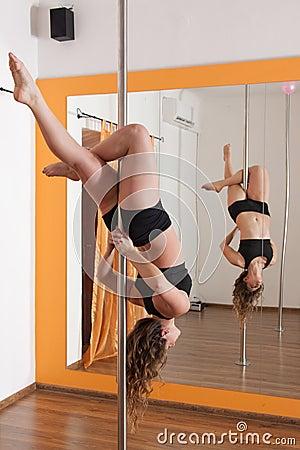 Pole dancer training