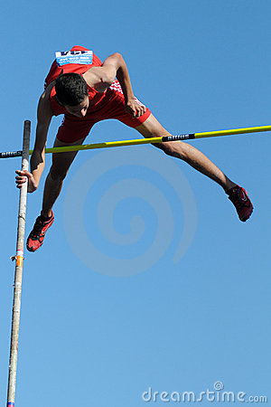Pole-vault Editorial Stock Photo
