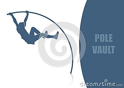 Pole vault background