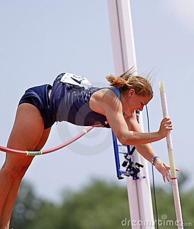 Pole vault women usa ahbe2 Editorial Stock Photo