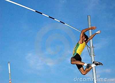 Pole-Vaulting Royalty Free Stock Images - Image: 2725189