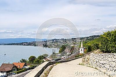 Polea, lago de Ginebra (Suiza)