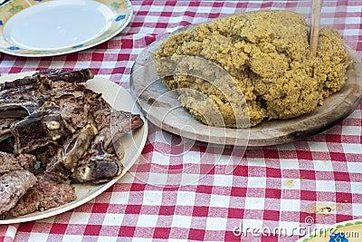 Polenta and chops
