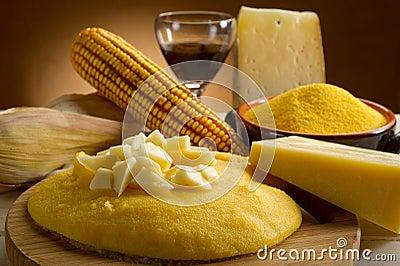 Polenta e queijo