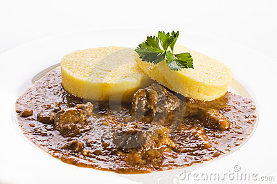 Polenta with goulash