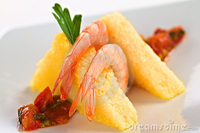 Polenta with Shrimp