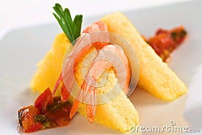 Polenta with Shrimp