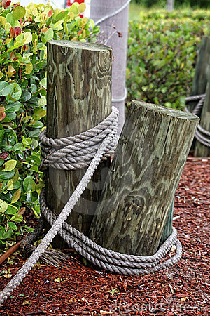Poles with rope