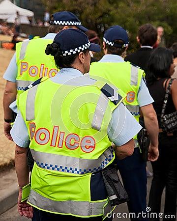 Policía Foto de archivo editorial