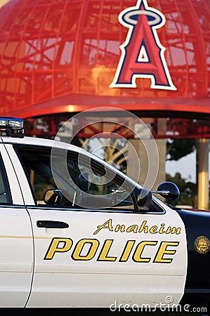 Policía de Anaheim Fotografía editorial