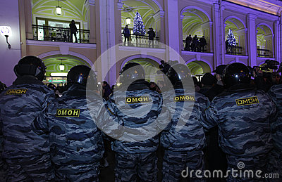 Policía especial del pelotón Foto editorial