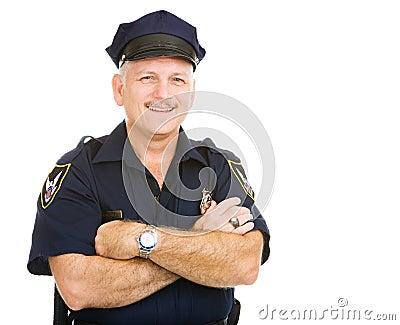 Policía cómodo