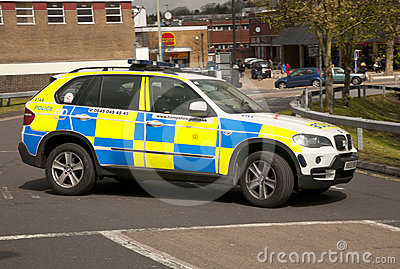 Police 4x4 Editorial Stock Image