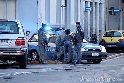 Police in action Editorial Photo