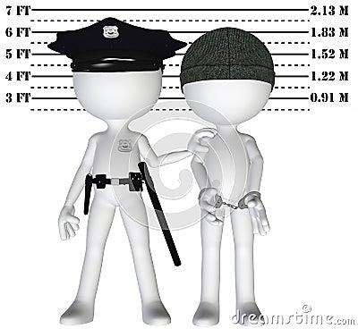 Police arrest criminal cop perp crime justice