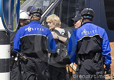 Police Arrest Demonstrator Editorial Stock Image