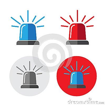 Free Police Beacon Icon Set Royalty Free Stock Images - 74383539