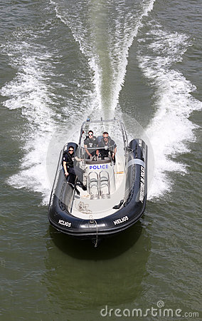 Police Boat  Editorial Photo
