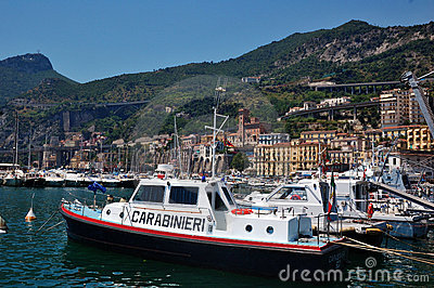 Police Boat in the Port of Salerno