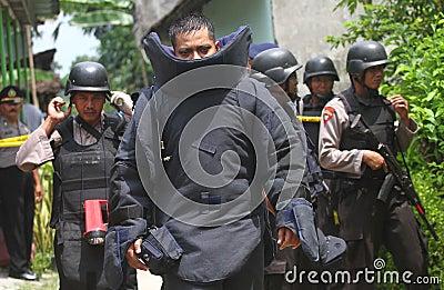Police bomb squad Editorial Stock Image