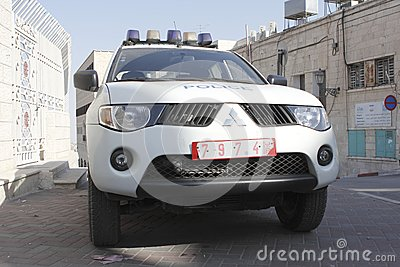 Police car in Bethlehem Editorial Photo