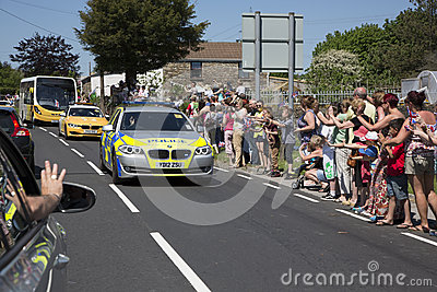 Police car convoy Editorial Photography