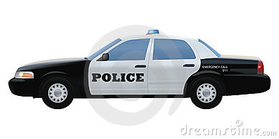 Police car detailed vector illustration
