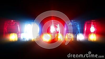 Police Car Lights Flashing Looping Stock Video Video