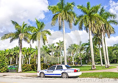 Police car in Miami