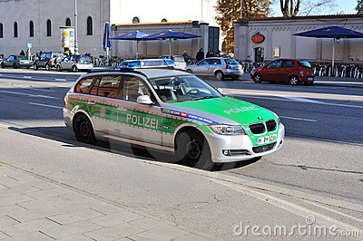 Police car in Munich Editorial Image