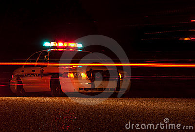 Police car at night