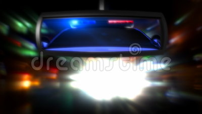 Police Car In The Rearview Mirror Stock Video Video Of